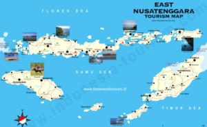 Tourist map of East Nusa Tenggara