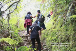trekking to waerebo village