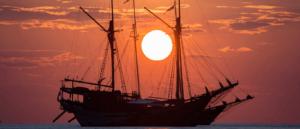 Charter boat in Komodo